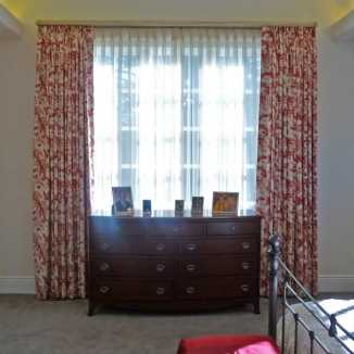 red-toile-curtains