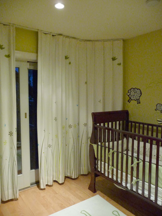 Sch Custom Designed And Printed This Curtain Fabric To Coordinate With The Decor In Noe Valley San Francisco Nursery
