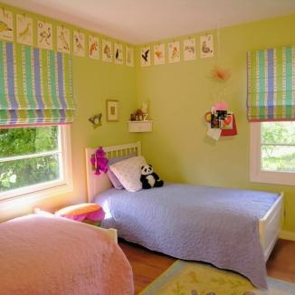 childs bedroom roman shades
