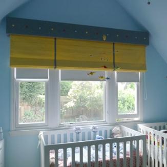 nursery roman shade
