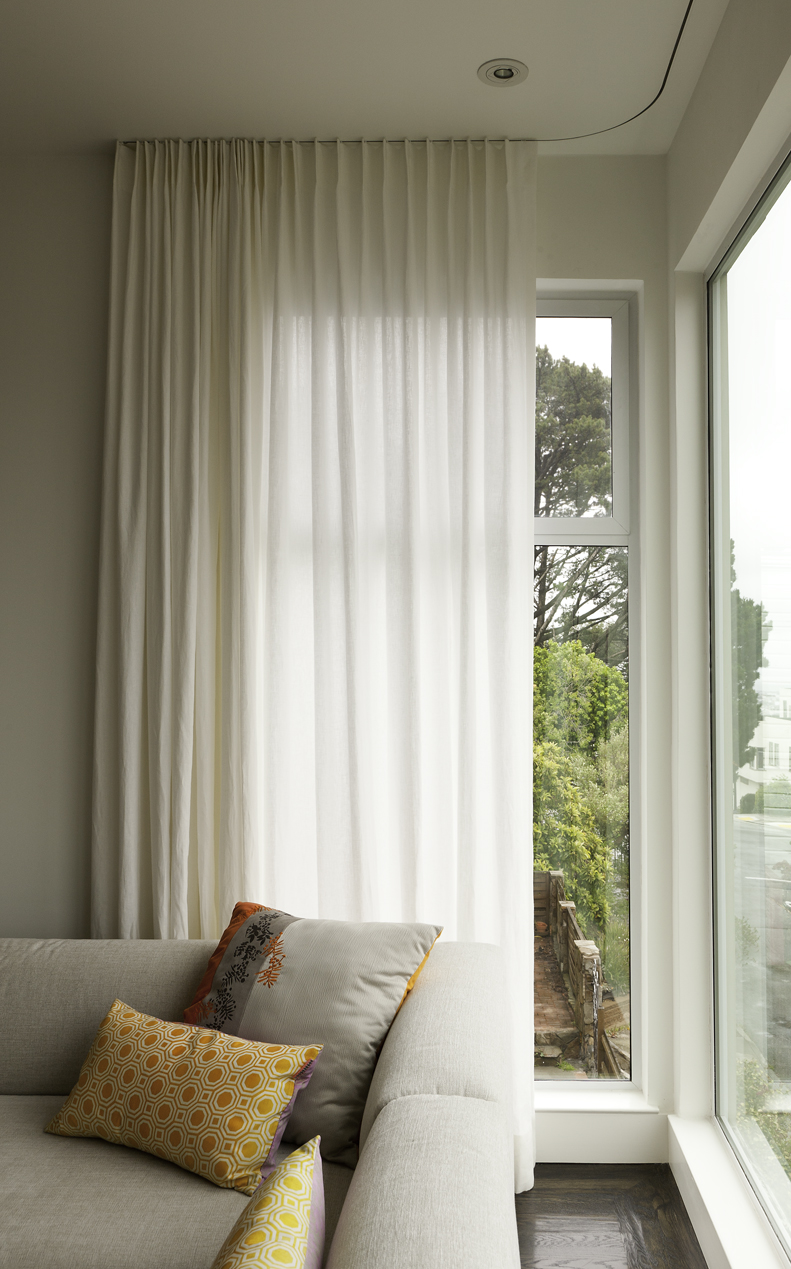 Stitch offers new service custom built ins stitch sf Contemporary drapes window treatments