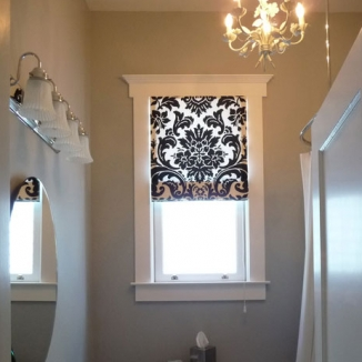 black and white shade in bathroom