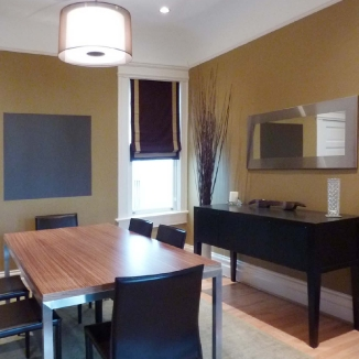 dining room roman shade