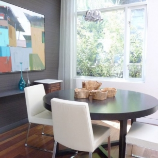 mesh-curtain-in-contemporary-dining room