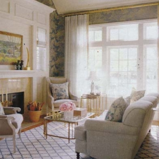 Custom curtains and roman shade