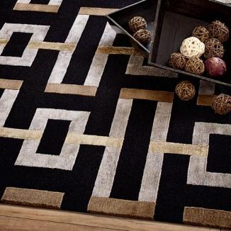 black-grey-brown-rug