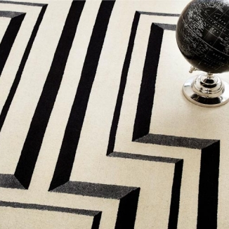 white-black-grey-rug