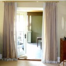 contrasting banded bedroom curtains