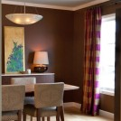 Custom Silk Drapery in dining room
