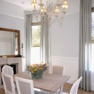 Blue linen custom drapes