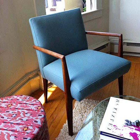 Blue Upholstered ChairSQ