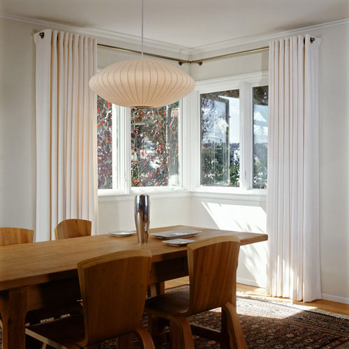 Custom Pillows White Modern Curtains In A Modernist Dining Room San Francisco