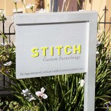 Stitch Custom Furnishings logo sign