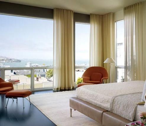 Custom curtains Russian Hill San Francisco