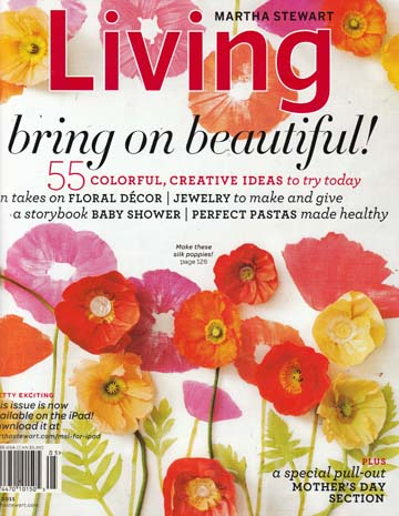 STITCH Client-Chloe Warner Featured in May 2011 Issue of Martha Stewart Living