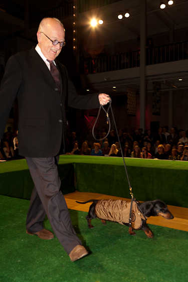 Wilkes Bashford and his dog in Haute Dog 2012