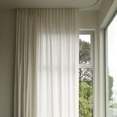 Modern curtains with built in tracking