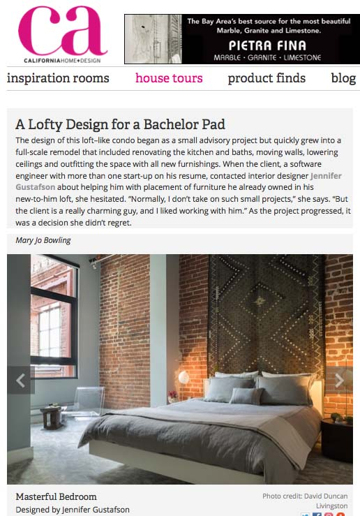 Stitch Bedding featured on California Home & Design Blog