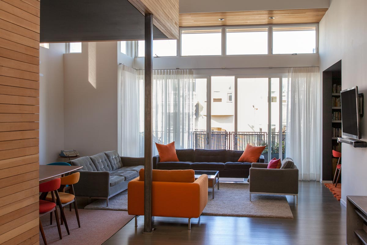 living room sheer window treatments hypnofitmaui com contemporary loft in san francisco with sheer privacy curtains
